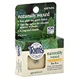 Tom's of Maine Naturally Waxed Anti-Plaque Flat Floss Spearmint 32 Yards (Pack of 12) For Sale