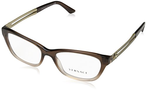 Versace VE3220 Eyeglass Frames 5165-52 - Brown/lt Brown Transp VE3220-5165-52 by Versace