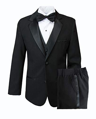 - Spring Notion Big Boys' Modern Fit Tuxedo Set, No Tail 10 Black