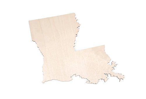 "Gocutouts Louisiana State 12"" Cutout Unfinished Louisiana Wood/Wooden Baltic Birch 1/4 Cutout DIY Home Decor USA Made (Louisiana)"