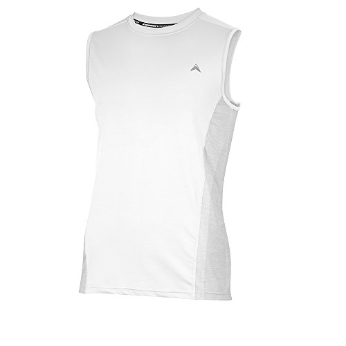 Arctic Cool Men's Sleeveless Instant Cooling Shirt w/ Mesh X-Large White