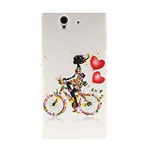 Kinston Bicycle Girl Pattern Plastic Hard Case for Sony L36h(Xperia Z)