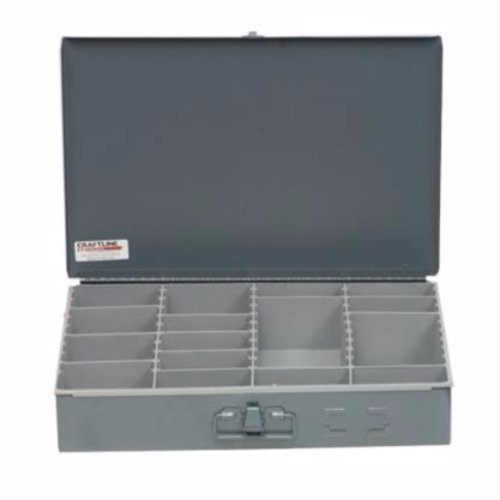 PL-AJP, Craftline Storage Systems, Adjustable-Compartment metal storage box W/ poly insert, dividers and latch. (1 PK)