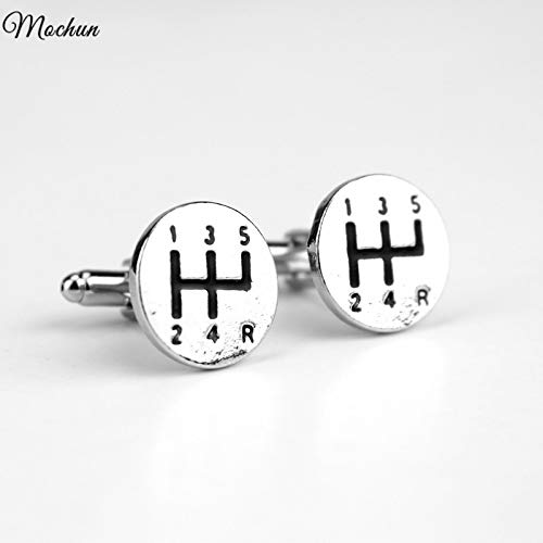FITIONS - Car Gear Shift Driving Racing Driver Fast Manual Transmission Shifting Cufflinks For Mens Weddings Father's Day Gifts