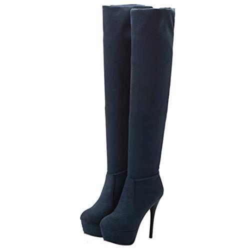 Classic AIYOUMEI Blue AIYOUMEI Women's Women's Boot a8xT8ntPU