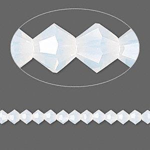Swarovski Crystal 5328 4mm XILION White Opal Bicones - 48 Pack