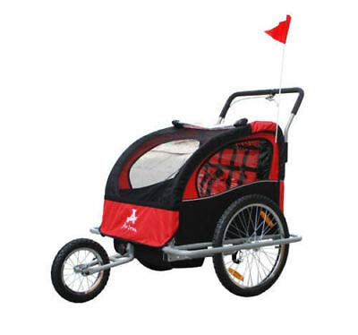 10004f4ed48 Amazon.com : Elite Double Baby Bike Trailer Stroller - Child Bicycle Kids  Jogger - Red : Sports & Outdoors