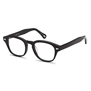 Unisex Oval Glasses Frames Black Prescription Eyeglasses Rxable 47-21-140