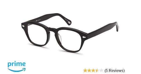 8500119c8cd Amazon.com  Unisex Oval Glasses Frames Black Prescription Eyeglasses Rxable  47-21-140  Clothing