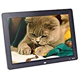 Andoer Digital Picture Frame 12 inch HD TFT-LCD 1280 x 800 Full-View Digital Photo Picture Frame (Black)