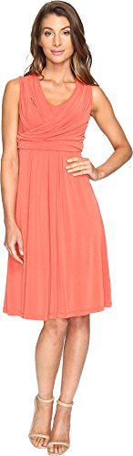 City Double Stretch Flat - NIC+ZOE Women's City Retreat Dress Cinnabar Dress