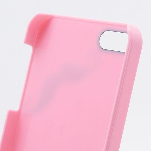 iProtect Schutzhülle iPhone 5 / 5S Case Perlen und Schnurrbart rosa