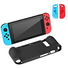 Deluxe Ostrich (Ostrich Nintendo Switch Soft Anti-slip Silicone Back Case and Joy-Cons Anti-Scratch Protective Back Cover)