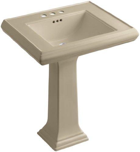 33 Memoirs Pedestal - KOHLER K-2258-4-33 Memoirs Pedestal Bathroom Sink with 4