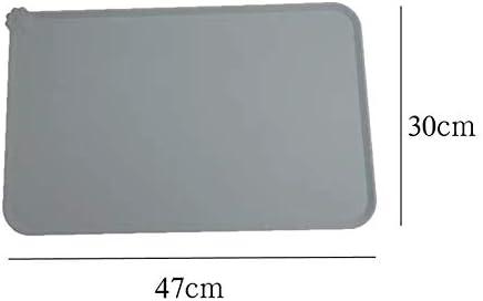 Hoseili Waterproof silicone pet feeding mat cat and dog feeding anti-slip mat easy to clean feeding mat