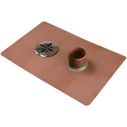 """Thunderbird Products Balcony Deck Drain with Overflow - 2"""" No Hub Fitting"""