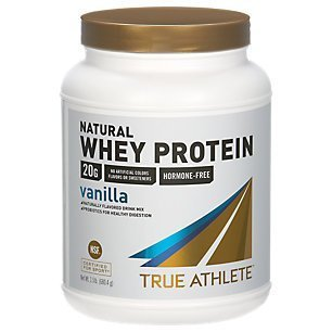 True Athlete Natural Whey Protein Vanilla, 20g of Protein per Serving Probiotics for Digestive Health, Hormone Free NSF Certified for Sport (1.5 Pound Powder) (Best Protein For Athletes)