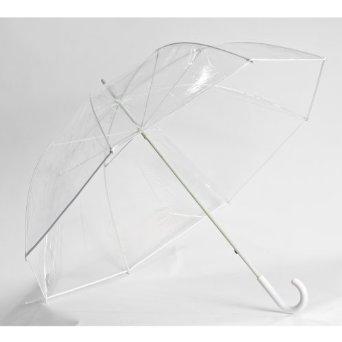 Frankford Umbrella's Clear Golf Umbrella with White Trim