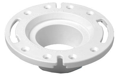 Toilet Bowl Repair Kit Bundle = Oatey 43539 PVC Cast Iron Flange  Replacement, 4-