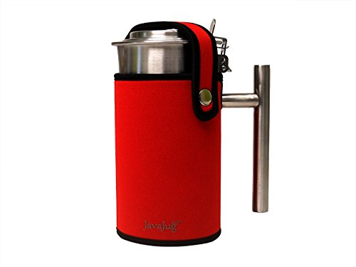 JavaJug2 with JavaJacket for the AeroPress Coffee and Espresso Maker (Red)