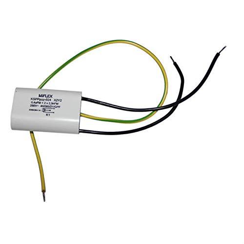 Miflex X2 Kondensator Entst/örkondensator KSPPPpz-024 0,4uF 2x 2,5nF