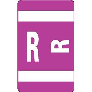 Smead AlphaZ ACC Color-Coded Alphabetic Label, R, Label Roll, Purple, 250 labels per Roll (67118)