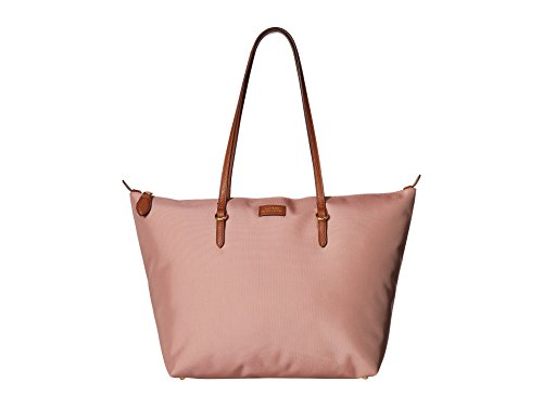 Lauren Ralph Lauren Chadwick Medium Nylon Tote (Rose Smoke)