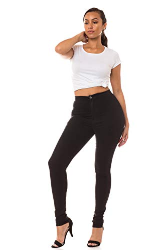 Aphrodite High Waisted Jeans for Women - High Rise Waist Skinny Womens Jeans with Round Back Pockets 1166 (Made in USA) Black 11