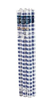 Banquet Table Roll, Plastic 100', Blue Gingham, Sold By The Case: 1 per Pkg, 6 per Case, Total Quantity: 6 by Creative Converting