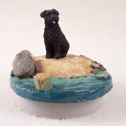 Conversation Concepts Miniature Bouvier des Flandres Candle Topper Tiny One ''A Day on the Beach''