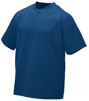 (Augusta Sportswear WICKING TWO-BUTTON JERSEY 3XL NAVY)