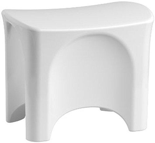 White Shower Seat - STERLING 72186104-0 Freestanding Shower Seat, White