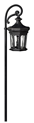 Hinkley Lighting 1513MB Raley Path Light, 18 Watt T5 Wedge Base Light Bulb, Museum Black Raley Outdoor Lantern