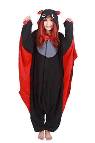 Lifeye Adult Old Bat Pajamas Animal Cosplay Costume Black]()