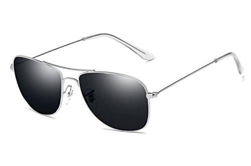 macho UV400 sol de gris Gafas plata aleación de gray guía de pesca hombre TL gafas gafas de Sunglasses silver O6Awq1R