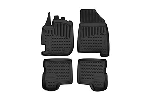 Element EXP.ELEMENT4154210k Alfombrillas de Goma Antideslizantes Dacia Duster 2, SUV – Año: 17-20, Negro