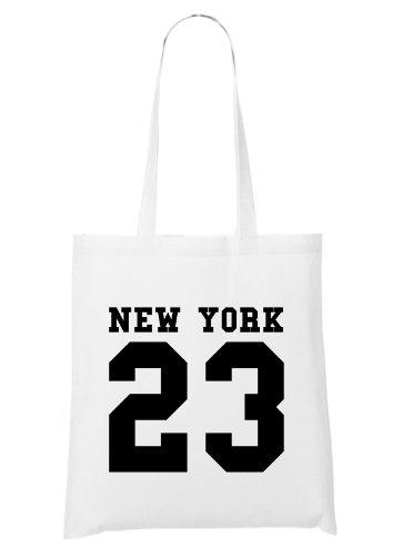 New York 23 Bag White