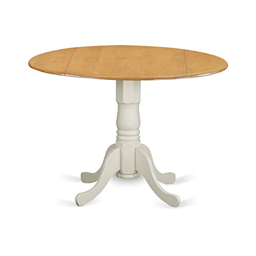East West Furniture DLT-OLW-TP Dublin Round Table with Two 9