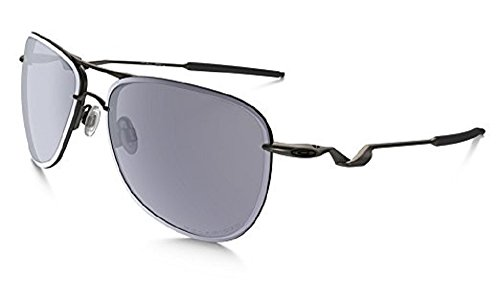 Oakley Men's Tailpin OO4086-05 Aviator Sunglasses, Carbon/Grey Polarized Lens, 61 - Oakley Men Aviators For