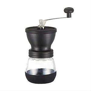 SFBBAO Macina Caffe Manuale Ceramico Burr Coffee Bean Grinder con Serbatoio di Stoccaggio Vetro Temperato, Durevole…