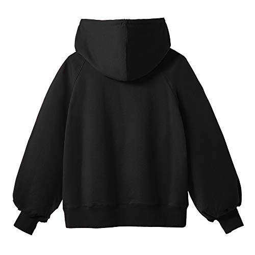Maglia Blusa Camicia Top Magliette Felpa Weant T Donna Ragazza Elegante Sexy Lunga Giacca Forti Taglie Pullover Tumblr Maglietta Cappuccio Nero 6xl S Shirt Manica wqYxzx6Z