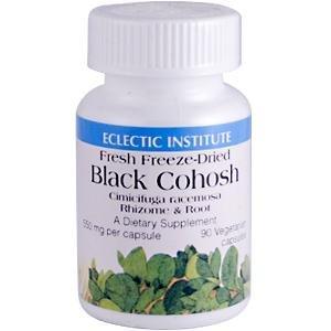 Черный Cohosh сушат вымораживанием 550 мг Эклектика институт 90 Vcaps