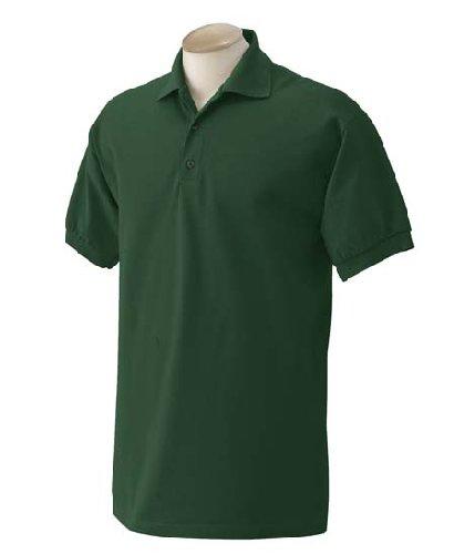 Gildan Mens Ultra Cotton 6.5-Ounce Pique Knit Sport Shirt, 3XL, Forest (Cotton Pique Sport Ultra Shirt)