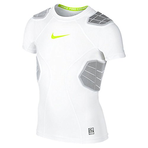 Nike Boys Pro Combat Hyperstrong Padded Football Shirt Wh...