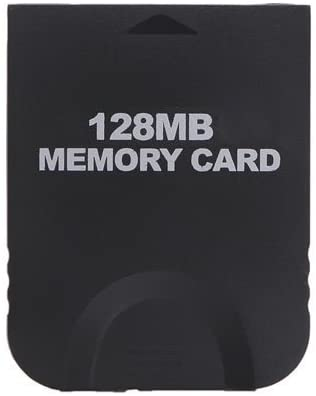 Gamilys 128MB Black Memory Card Compatible for Wii Gamecube