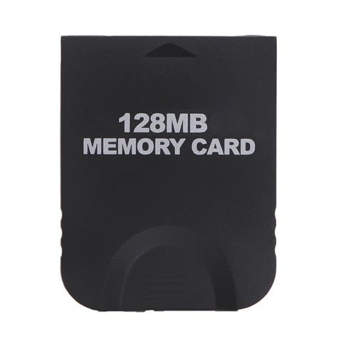 Gamilys 128MB Black Memory Card Compatible for Wii Gamecube (Wii Console Memory Card)