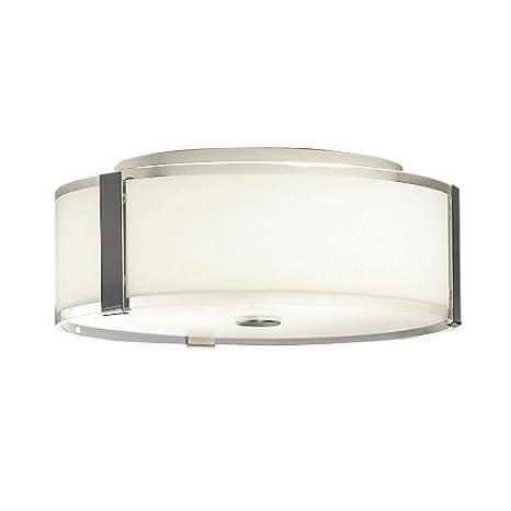 best cheap 86a11 cd7b7 allen + roth 13.87-in W Chrome Ceiling Flush Mount