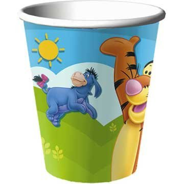 Hallmark Pooh and Friends 9 oz Cups - 8 ct (Pooh Bear Birthday Invites)