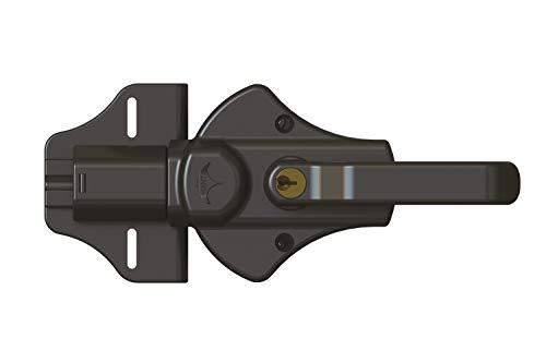 Nationwide Industries Manta Magnetic Two-Sided Key-Lockable Gate Latch, w/SS Self Drilling Screws - Black - Manta-L-BK