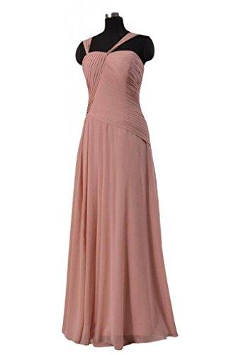 Chiffon BM124 22 DaisyFormals Bridesmaid orange Dress Long Asymmetric Evening Dress Long 8zzn4fqx